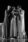 Yevgeny Panfilov芭蕾演播室的成员从电烫的执行罗密欧,并且在IFMC期间的朱丽叶2013年11月22日在维帖布斯克,是 免版税库存图片
