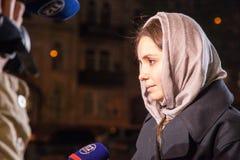 Yevhenia Tymoshenko (Eugenia). Pasen 2014 in de Oekraïne 22.04.2014 stock fotografie