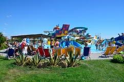 Yevpatoria, Crimea, Lipiec, 06, 2016 Aquapark ` republiki Bananowy ` w Yevpatoria duży w Crimea Obrazy Royalty Free