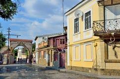 Yevpatoria, Crimea, Lipiec, 04, 2016 Ludzie chodzi na Tuchina ulicie w Yevpatoria w lecie Obraz Royalty Free