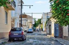 Yevpatoria, Crimea, Lipiec, 04, 2016 Ludzie chodzi na Tuchina ulicie w Yevpatoria w lecie Obrazy Royalty Free