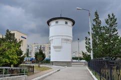 Yevpatoria, Crimea, Lipiec, 04, 2016 Nikt, stara wieża ciśnień w Yevpatoria Fotografia Royalty Free