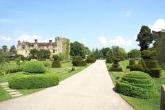 Yew topiary garden of Hever castle in Hever near Edenbridge, Kent, England Royalty Free Stock Image