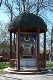 YEYSK, RUSSIA-APRIL 27日2017年:天使迈克尔寺庙的疆土的教堂  免版税库存照片