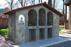 YEYSK, RUSSIA-APRIL 27日2017年:天使迈克尔寺庙的疆土的教堂  免版税库存图片