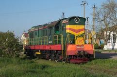 YEYSK KRASNODAR, ROSJA, MAJ,/- 01, 2017: lokomotywy CHMEZ 2941 Rosyjskie koleje Zdjęcie Royalty Free