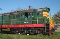 YEYSK, KRASNODAR/RUSSLAND - 1. MAI 2017: Lokomotive-CHMEZ 2941 russische Eisenbahnen Lizenzfreie Stockbilder