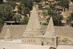 A Yezidi temple in Lalish, Iraqi Kurdistan. Yezidi temple in Lalish, a holy village situated in North Iraq (Iraqi Kurdistan Royalty Free Stock Photo
