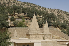 Yezidi temple in Lalish, Kurdistan. Yezidi temple in Lalish, a holy village situated in North Iraq (Iraqi Kurdistan Royalty Free Stock Photo