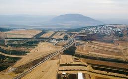 Yezreel Tal und Montierung Tabor Stockfotos