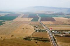 Yezreel Valley and Mount Gilboa stock image