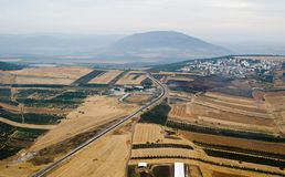 Yezreel Valley and Mount Tabor Stock Photos