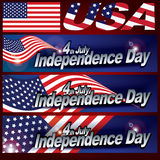 4yh de design de carte de Jour de la Déclaration d'Indépendance de juillet photos stock