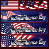4yh van Juli-de kaartontwerp van de onafhankelijkheidsdag stock foto's