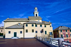 Yhe church and its bell tower Royalty Free Stock Photo