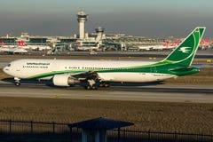 YI-AQW伊拉克航空公司,波音767-300 免版税库存照片