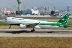 YI-ARA Iraqi Airways Aerobus A320-214 Obraz Royalty Free
