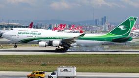 YI-ASA Iraqi Airways, Boeing 747-400 stock photo