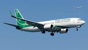 YI-ASG Iraqi Airways, Boeing 737-800 Arkivfoto