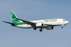YI-ASI Iraqi Airways, Boeing 737 - 800 Fotografia de Stock