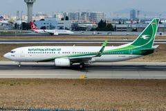 YI-ASQ Iraqi Airways, Боинг 737-800 Стоковое фото RF
