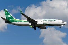 Yi-EZEL Iraqi Airways, Boeing 737-81Z royalty-vrije stock foto
