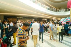 Shenzhen, China: large shopping malls opened, and many people attended the opening ceremony. Yi fang cheng large shopping malls opened, many people came to the Royalty Free Stock Photography