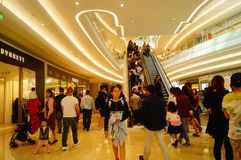 Shenzhen, China: large shopping malls opened, and many people attended the opening ceremony. Yi fang cheng large shopping malls opened, many people came to the Stock Image