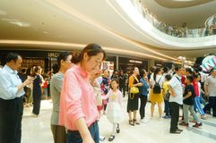 Shenzhen, China: large shopping malls opened, and many people attended the opening ceremony Stock Photos