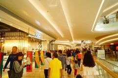Shenzhen, China: large shopping malls opened, and many people attended the opening ceremony. Yi fang cheng large shopping malls opened, many people came to the Royalty Free Stock Photos