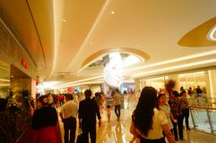 Shenzhen, China: large shopping malls opened, and many people attended the opening ceremony Royalty Free Stock Image
