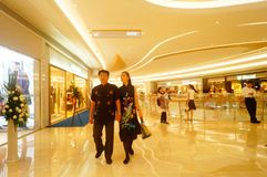 Shenzhen, China: large shopping malls opened, and many people attended the opening ceremony Stock Image
