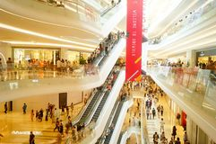 Shenzhen, China: large shopping malls opened, and many people attended the opening ceremony Stock Images
