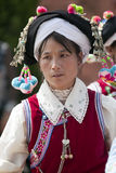 Yi Minority Woman in Traditional Clothes Royalty Free Stock Photo