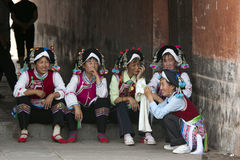 Yi Minority Women in Traditional Clothes Royalty Free Stock Photography