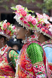 Yi Minority Women in Traditional Clothes Royalty Free Stock Images