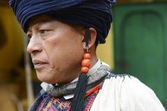 Yi Nationality Tribal Chief Stock Photo