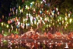 Yi Peng Festival in Chiang Mai Stockbilder