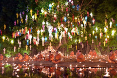 YI Peng Festival en Chiang Mai Images stock