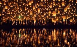 Yi Peng festival Chiang Mai, Thailand. Yi Peng festival lantern festival Chiang Mai, Thailand royalty free stock photos