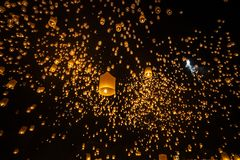 Yi Peng festiwal Chiangmai Tajlandia Fotografia Stock