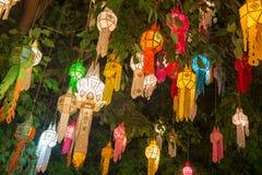Yi Peng lampion, fajerwerku festiwal w Chiang mai Tajlandia Fotografia Stock