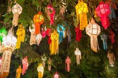 Yi Peng Lantern, Feuerwerks-Festival in Chiang Mai Thailand lizenzfreies stockfoto