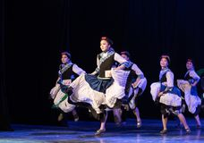 July Torch Festival 10 -Yi ethnic group dance-Graduation Show of Dance Departmen stock image