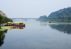 Yi River at Longmen Grottoes Stock Images