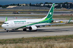 Yi-VRAAG Iraqi Airways, Boeing 737-81W Royalty-vrije Stock Foto
