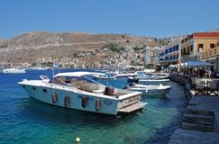 Yialos harbour, Symi island Royalty Free Stock Images