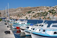 Yialos harbour, Symi island Stock Photography