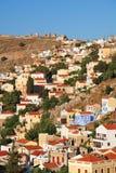 Yialos, isla de Symi imagenes de archivo