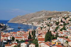 Yialos, Symi island Royalty Free Stock Images